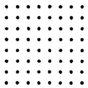 Рис. 1. Это множество точек воспринимается как непрерывно меняющиеся узоры из рядов и квадратов. В этом проявляется системно-организующая тенденция зрительной системы.