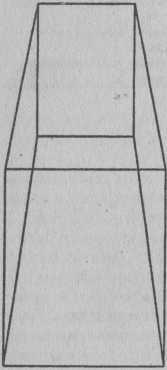 Флуктуация внимания. На этом рисунке мы попеременно видим то параллелепипед, то усеченную пирамиду - внимание периодически выдвигает на передний план различные стороны объектов. При равнозначности различных сторон объекта непроизвольное переключение внимания осуществляется с периодичностью в 20 сек.