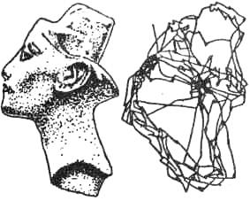 Запись движений глаз (окулограмма) при восприятии объекта. Фиксируются наиболее информативные точки контура, зрительный маршрут структурно организован