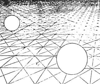 Рис. 22. Различные по величине диски интерпретируются как одинаковые благодаря косвенной информации, получаемой от градиента плотности текстуры