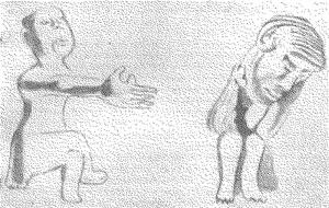 Скульптура слепорождённого, изображающая отчаяние (по Г. Ревешу)