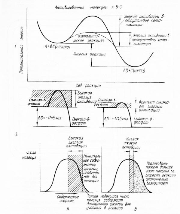 График изменения энергии активации