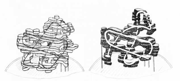 Третичная структура молекулы гемоглобина (по М. Перутцу, 1966)